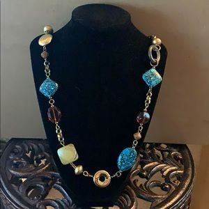 Jewelry - Turquoise, Gold and Brown Necklace